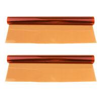 2x Gel Filter Colour Correction Sheet for Flash Speedlite Stage Light Orange
