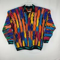 Vintage Coogi Authentic Wool Sweater Biggie Australia Size XL Colorful Very Rare