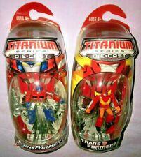 2x Transformers TITANIUM SERIES DIE CAST OPTIMUS PRIME & RODIMUS PRIME *NEW*