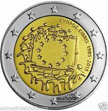 Rouleau 2 euros commemoratives CHYPRE 2015 - 30ème anniv. du drapeau Européen