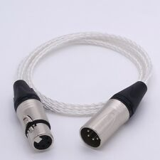 4 Pin XLR Male to Female Audio 8 cores 5N PCOCC Silver plated Extension Cable