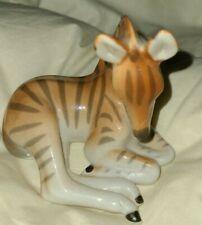 "Baby Gorgeous Lomonosov porcelain Zebra figure made in Russia Figurine Apprx5"""