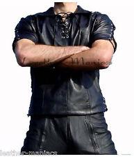 Lederhemd mit Schnürung Leder Leather cuir shirt