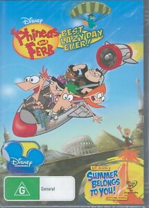 PHINEAS And FERB Best Lazy Day Ever! DVD NEW & SEALED Free Post