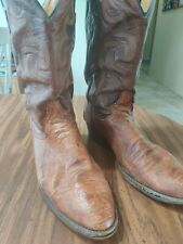 Resistol Ranch Mens Leather Western Cowboy Boots - Size 10D - Ostrich