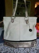 The SAK Indio Off-White Gold  Leather Large Tote Shopper Shoulder Bag