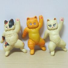 3 Lot Japan Anime What's Michael Cat Figure Toys