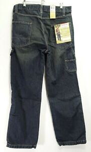 New Signature By Levis Mens Relaxed Carpenter Work Cotton Denim Jeans 34 x 32