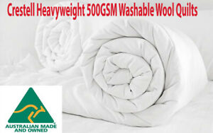 Crestell Australia FACTORY SECOND 500GSM Heavyweight Washable Wool Doona|Quilt