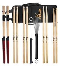 XDRUM SCHLAGZEUG STICKS STARTER SET DRUM STICKS JAZZ BESEN RODS DRUMSTICKTASCHE