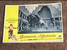 SAMSON AND DELILAH R68 LOBBY CARD #7 CECIL B DEMILLE