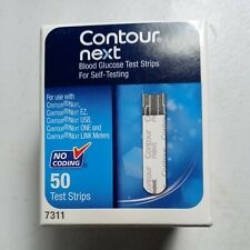 Contour Next Diabetic Blood Glucose 50ct Test Strips 12/2020