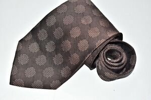 Men's Giorgio Armani Brown Silk Neck Tie made in Italy