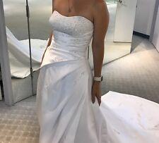 Alfred Angelo Satin A-Line Wedding Gown, Strapless, New/Unworn, Unaltered