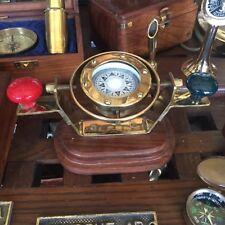 Stupenda bussola con compensatori magnetici sospensione cardanica ottone
