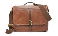BNWT Fossil Evan Commuter Leather Bag Brown Guaranteed Original