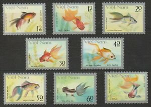 1977 Vietnam Stamps Goldfish Fish Collection Scott # 901-908 MNH