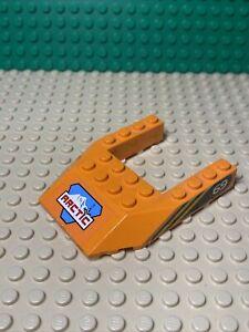 LEGO Orange Wedge 6x8 Arctic Logo 69 Pattern Both Sides 32084pb001 Ref 6586