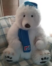 Pepsi Polar Bear Huge Clean White Plush Stuffed Toy Hat Vintage 1987 Animal Fair