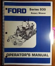 """Ford Series 930 48 59 72"""" Rotary Mower Owner Operator Manual SE 3714-B 42093010"""