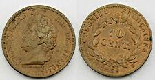 1 piece de 10 centimes  en bronze 1839 -  colonies Francaise ( 003 )