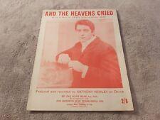 AND THE HEAVENS CRIED - ANTHONY NEWLEY - SHEET MUSIC - ELIAS & REID