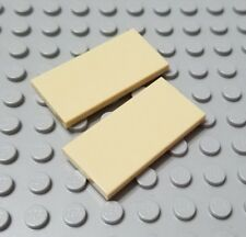 LEGO New Lot of 2 Tan 2x4 Smooth Tile Pieces