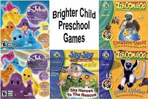 Age 3-5 Brighter Child Preschool Learning Games PC Windows XP Vista 7 Sealed New