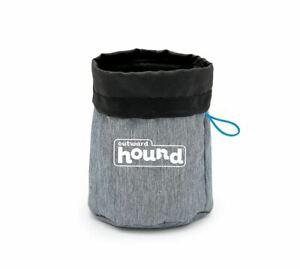 """Outward Hound Dog Treat N Ball Bag Gray 7"""" x 6"""" x 1"""""""