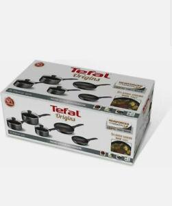 TEFAL Origins B190S544 5-piece Non-stick Cookware Set - Black frying & saucepans