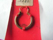 1  boucle oreille ancienne  plaque  or  stock representant   oria
