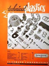 SYNTHANE Plastics Catalog ASBESTOS Insulation Laminated 1946 Aviation Navy Use!!