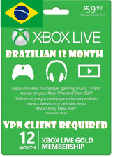 12 Month Xbox Live Gold Membership (BRA VPN Required) (Read Desc) Email Delivery