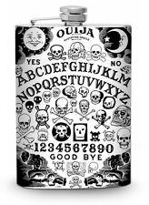 Ouija Board Flask 8oz Silver Metal Whiskey Vodka Drinking Flasks Liquor Spirits