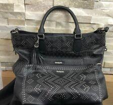 Desigual 2 Black Studded Handbag Shoulder Bag