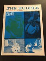 1970 The Huddle BALTIMORE Colts DETROIT Lions JOHNNY UNITAS Tom MATTE Mel FARR