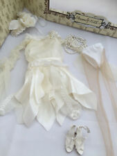 Woe & Whimsy COMPLETE OUTFIT - Tonner Ellowyne Wilde doll fashion - white dress