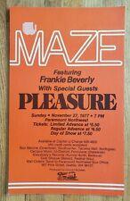 Original (1977) MAZE Frankie Beverly PLEASURE Seattle Cardboard Concert POSTER