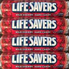 Lifesavers Wild Cherry Candy 40 Rolls  14 Pieces per Roll  Free Shipping