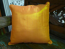 Cushion Covers Orange Metalic Shimmer 40cm Bedding Day Bed Couch