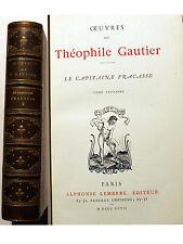 GAUTIER/LE CAPITAINE FRACASSE/ED LEMERRE/1897/TOME DEUXIEME