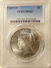 1927-D Peace Dollar - PCGS MS62 - Better Date - Pretty BU Coin  FREE SHIPPING