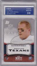 J.J. WATT ROOKIE CARD Graded GEM MINT 10 RC Houston Texan Football 2011 Topps JJ