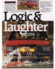 1989 Chevrolet Chevy Red S-10 Blazer Laughing Men & Dog Vtg Print Ad