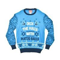 New Jem Sportswear Men's Matzo Balls Holiday Crewneck Sweater - XXL