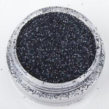 AVON NAIL ART -   BLACK GLITTER POT - BNIP