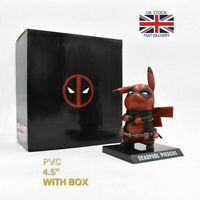 UK Anime Pokemon Pikachu Cosplay Deadpool PVC Figure Statue Anime Toy Hero 14cm