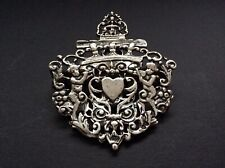 Victorian Sterling Silver Cherub & Heart English Paper Clip