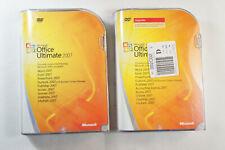GENUINE Microsoft Office Ultimate Pro 2007 + Upgrade w/ Key, Full Retail Version