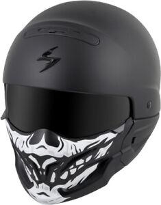 Scorpion 52-546-18 Covert Helmet Face Mask Black/White 75-01045